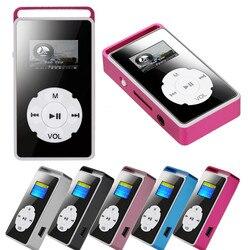 Mini usb metal digital mp3 player tela lcd suporte 32gb micro sd tf cartão espelho música mídia qualidade mp3 leitor de música 20j3