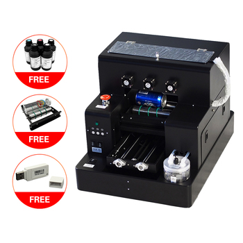 Automatic Small UV Printer A4 Size UV Flatbed Printer with 2500 ml UV Ink for Bottle, Phone Case, Lighter, TPU, PVC, Metal, Wood art coffee drinks printer food printer chocolate printer with food ink free factory supply with ce