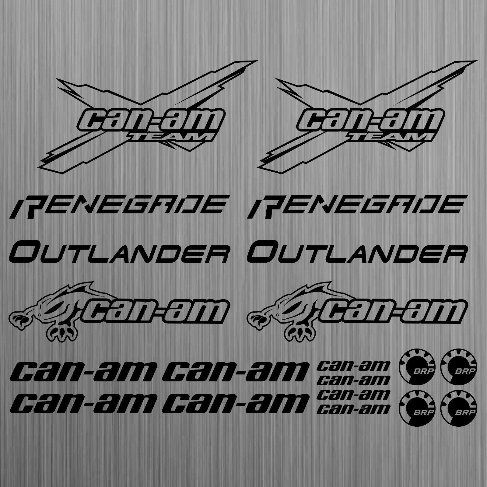 Para can-am canam equipe brp renegado outlander etiqueta quad atv 20 peças estilo do carro