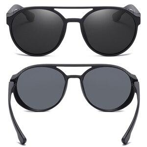 Image 5 - KEITHION BRAND Steampunk Polarized Sunglasses Women Men Retro Goggles Round Flip Up Glasses steam punk Vintage Fashion Eyewear