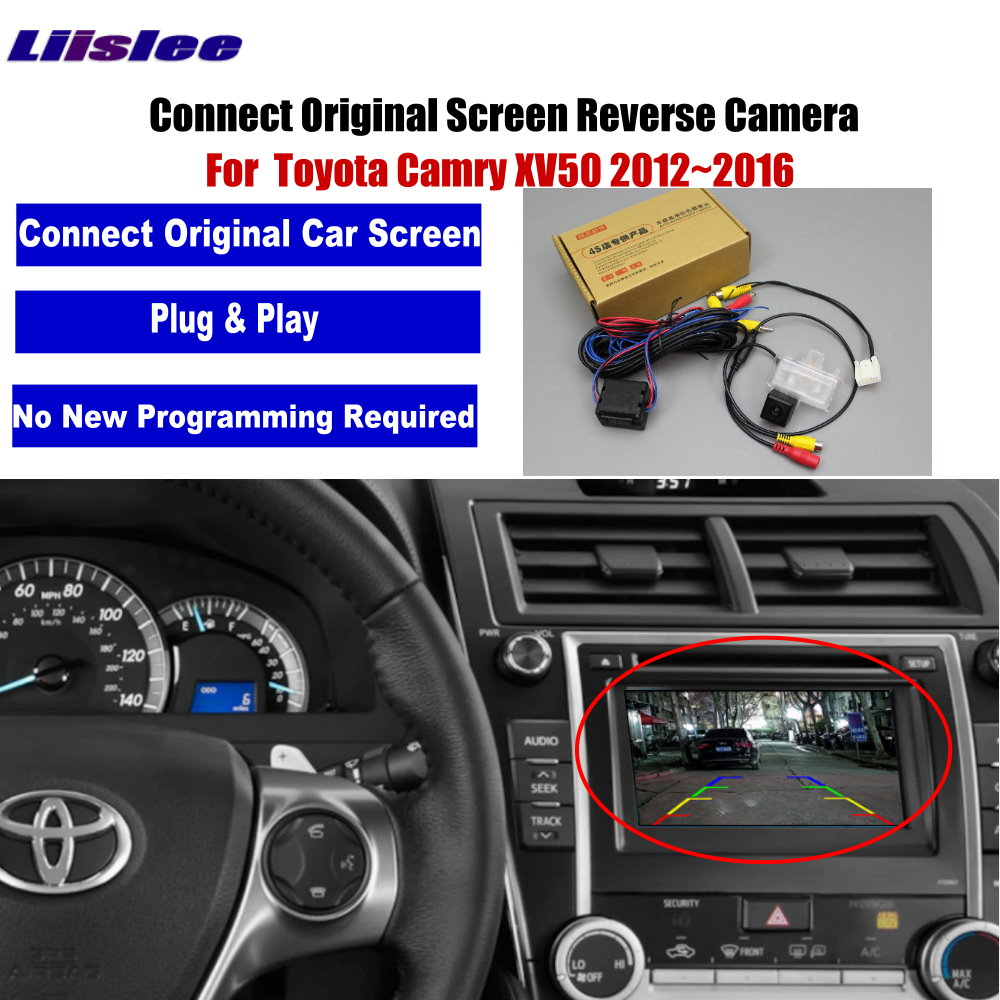 Car Rear View Camera / Back Up Reverse Camera For Toyota Camry XV50 2012~2016 / HD RCA & Original Screen Compatible