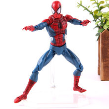 Os Vingadores MAFEX No. 075 Amazing Spiderman Superhero Spider Man PVC Action Figure Collectible Modelo Toy Boneca Presente(China)