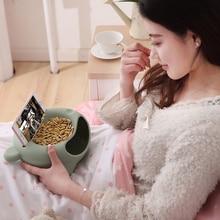 Креативное ленивое фруктовое блюдо закуски ореховая миска с двойным дном для дынь двухслойная пластиковая конфетная коробка для хранения еды для перекуса Фруктовая тарелка чаша с держателем для телефона