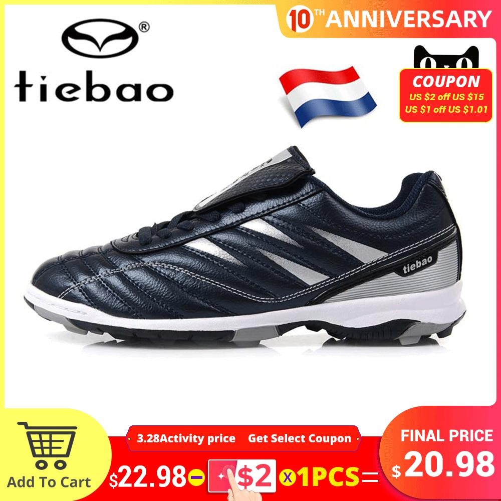 Russian Warehouse! TIEBAO Men Women TF Turf Rubber Soles Football Boots Outdoor Sports Training Soccer Shoes Sneakers EU 39-45