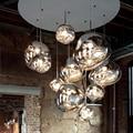 Скандинавское стекло светодиодный подвесной светильник освещение Лава подвесной светильник для гостиной Лофт светодиодный подвесной све...