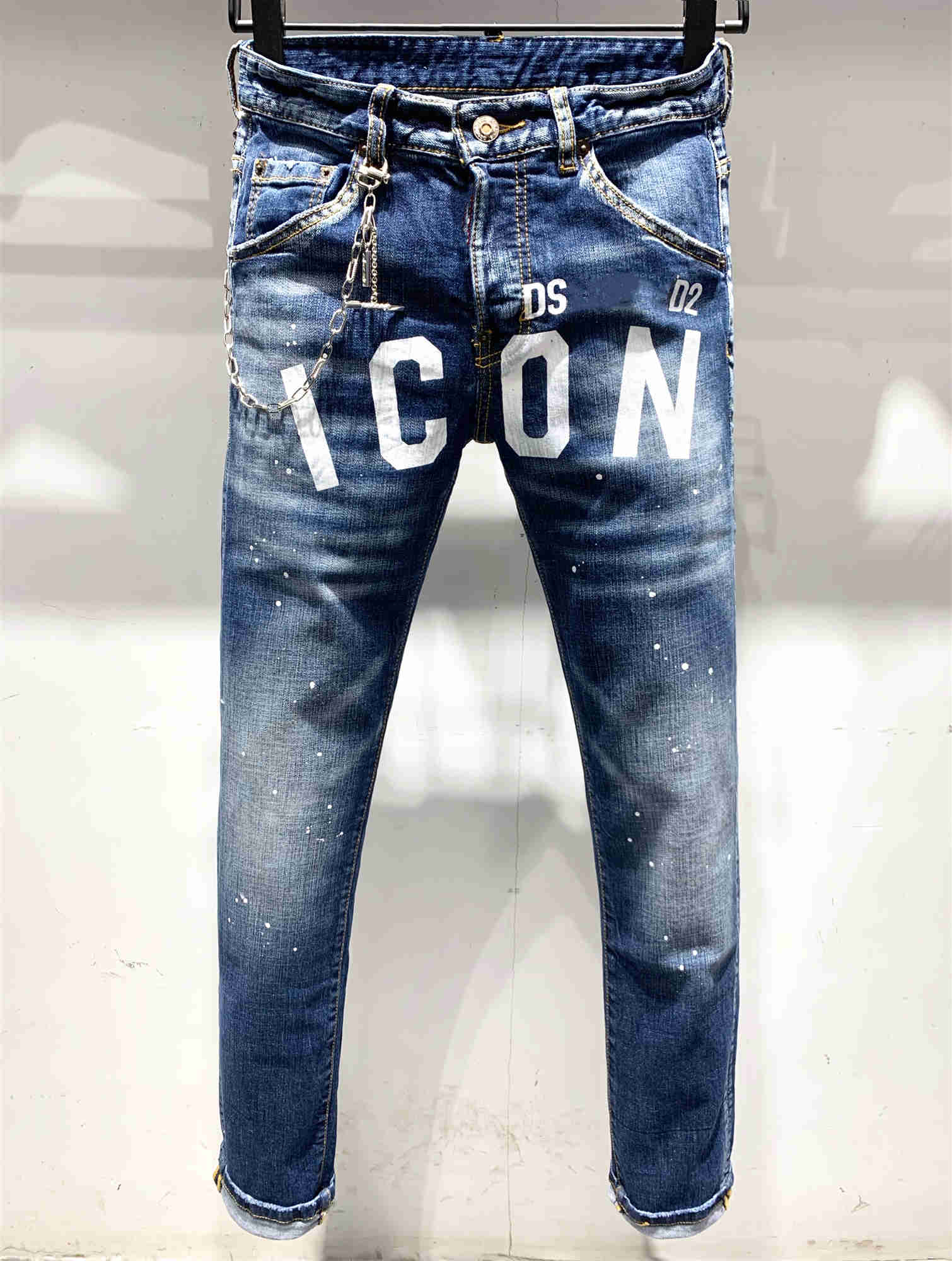NEW Mens Jeans Straight Jeans Fashion Classic Destroyed Swag Male Denim Pants Jeans Men