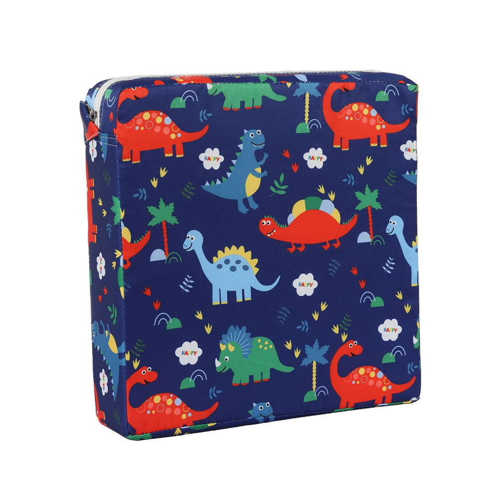Baby Booster Cushion Toddler Dismountable Square Cartoon Kid Non Slip Mat Chair Pad Portable Heightening Washable Thick Soft