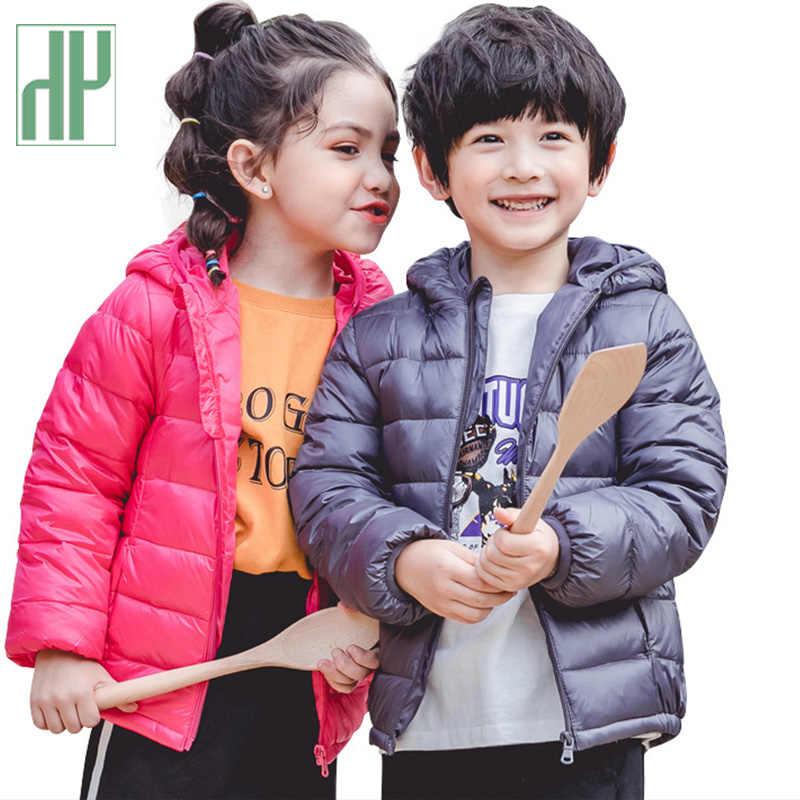 HH niños abrigos Otoño Invierno chaqueta para niñas Chaqueta de algodón niños niño prendas de vestir exteriores nieve bebé chaquetas