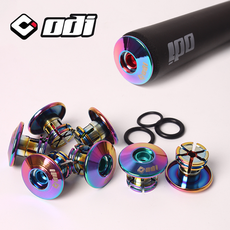 ODI 2pcs Bike Handlebar Grips Anti-slip Firm MTB Bar End Plugs Lightweight Bicycle Grip End Plugs For MTB BMX DH FR Balance Car