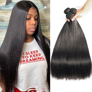 Sapphire Brazilian Straight Human Hair Weave Bundles Natural Color Remy Human Hair Extension Brazilian Human Hair Bundles(China)