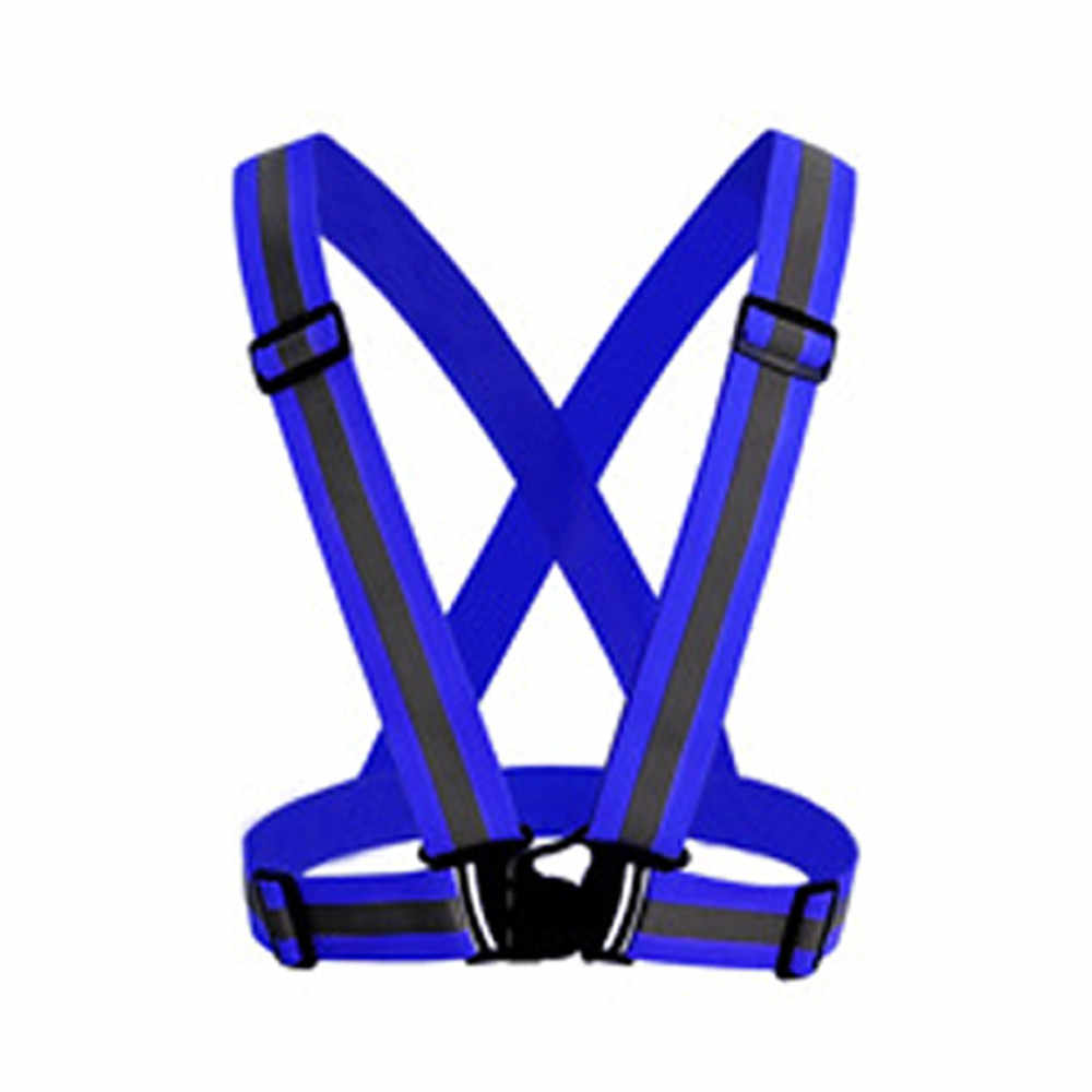 Visibilidad chaleco neón cinturón reflectante chalecos de seguridad aptos para correr ciclismo deportes protección trasera cruzada hebilla de correa ajustable