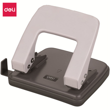 Deli 6mm Diameter Can Use 20 Pages Two Hole Puncher Paper Punch Punching Machine with Ruler Medium Random Color 0102