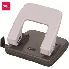 Deli 6mm średnica może używać 20 stron dwa dziurkacz dziurkacz do papieru wykrawarka z linijką średni losowy kolor 0102