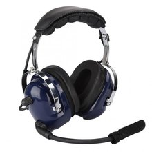 Noise Reduction General Aviation Headset Dual Plug Pilot Headphone Blue Noise Reduction Headset for Pilots