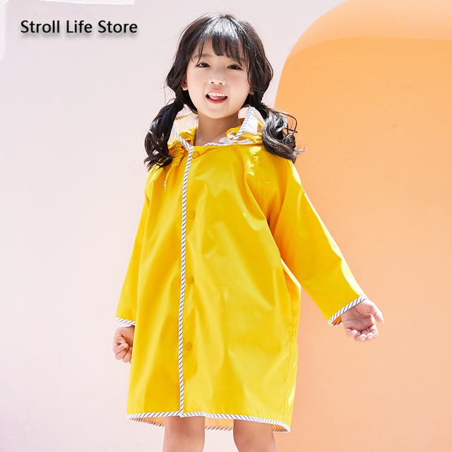 Long Rain Coat Women Boys and Girls Yellow Baby Raincoat Poncho Rain Jacket Windbreaker Waterproof Suit Impermeable Gift Ideas 5