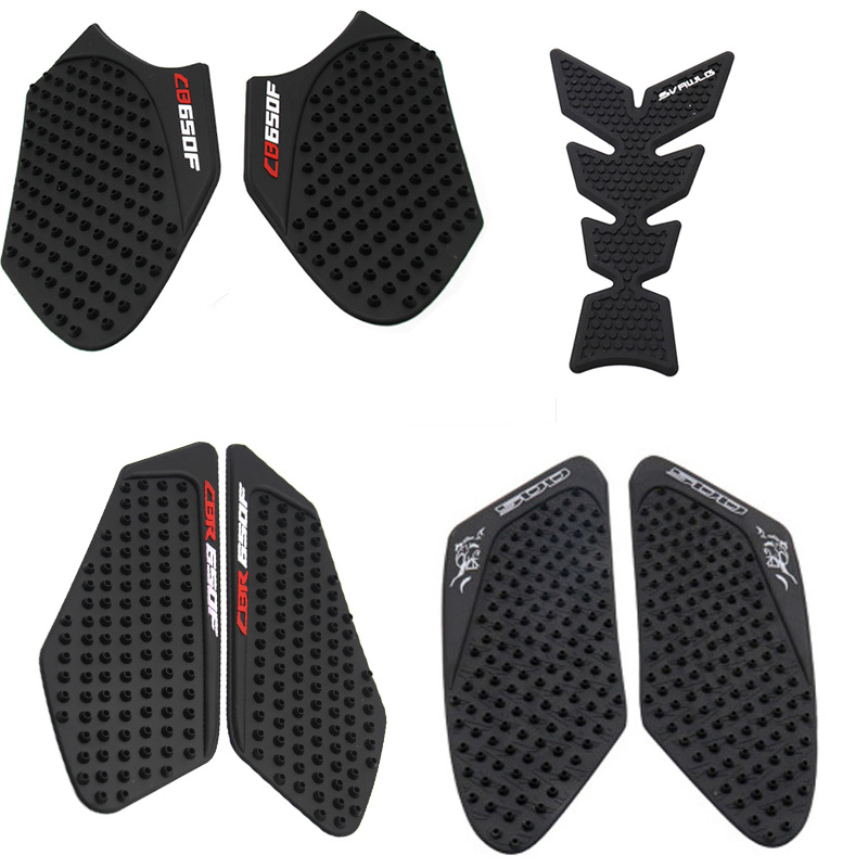 3M Black//Clear Pair Motorcycle Tank Traction Gas Pad Knee Fuel Side Grips Protector Decals For CBR600RR F5 2003-2006 Black