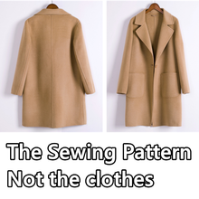 Sewing Patterns for Women's coat windbreaker Template Clothing Cutting drawing DIY WW-19