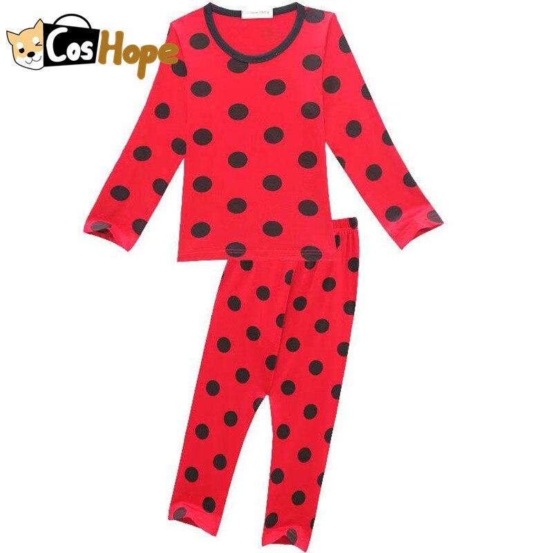 Детские пижамы; нарядное платье для вечеринки; костюмы на Хэллоуин для детей; Топ в горошек с длинными рукавами; брюки; детская одежда для ко