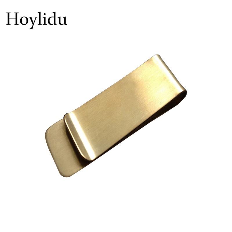 Высококачественный металлический кошелек из нержавеющей стали с зажимом для денег для мужчин и женщин, модный кошелек с монетницей Серебря...