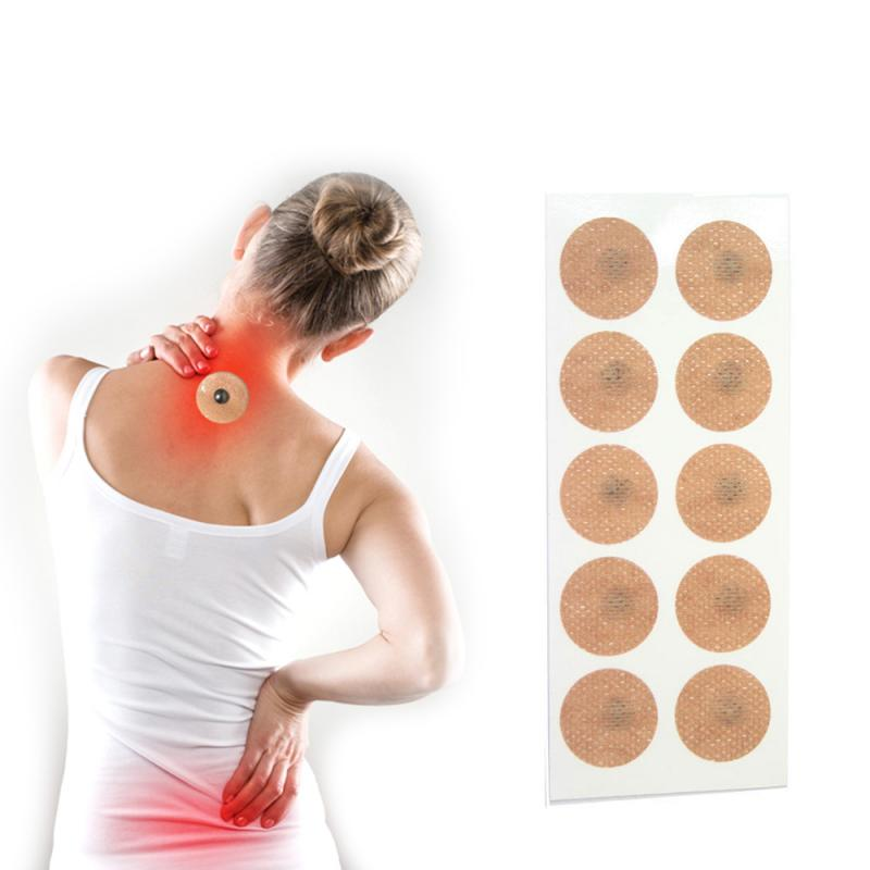 10Pcs/Set Body Care Sheet Magnetic Therapy Patches Magnet Body Pain Relief Health Magnet Natural Acupoint Therapy Magnetic Tool