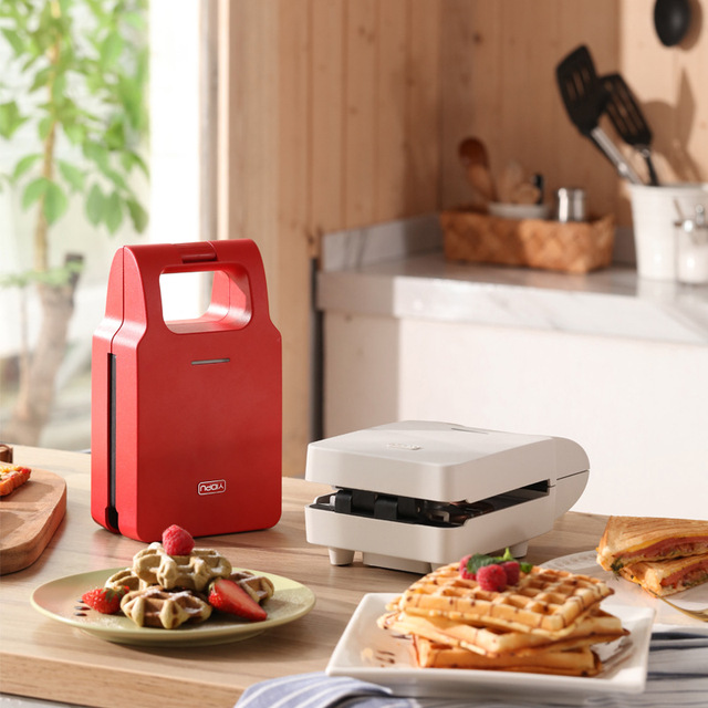 Sandwich Machine Toaster Breakfast Machine Artifact Household Bread Light Food Machine Waffle Multi-Function Spitting Driver 5