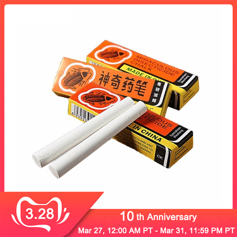 3Pcs From Cockroaches 2018 Miraculous Chalk Pen Cockroach Poison Ants Drugs Powder Insecticide Killing Fleas Lice Pest Control