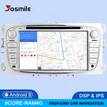 IPS DSP 8 Core 4G 64G 2 din Android 9 Car Radio For Ford Focus 2 3 mk2 Mondeo 4 Kuga Fiesta Transit Connect S-MAXC-MAX Multimedi(China)