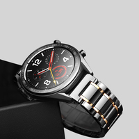 Correa de cerámica de 22mm para Huawei watch GT 2 para Samsung Gear S3 Frontier Galaxy Watch 46mm Superficie suave correa de repuesto de cerámica