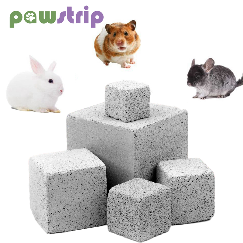 Natural Mineral Teeth Molar Stone Guinea Pig Hamster Rabbit Teeth Grinding Stone Small Pet Dental Care Chew Toys Pets Supplies