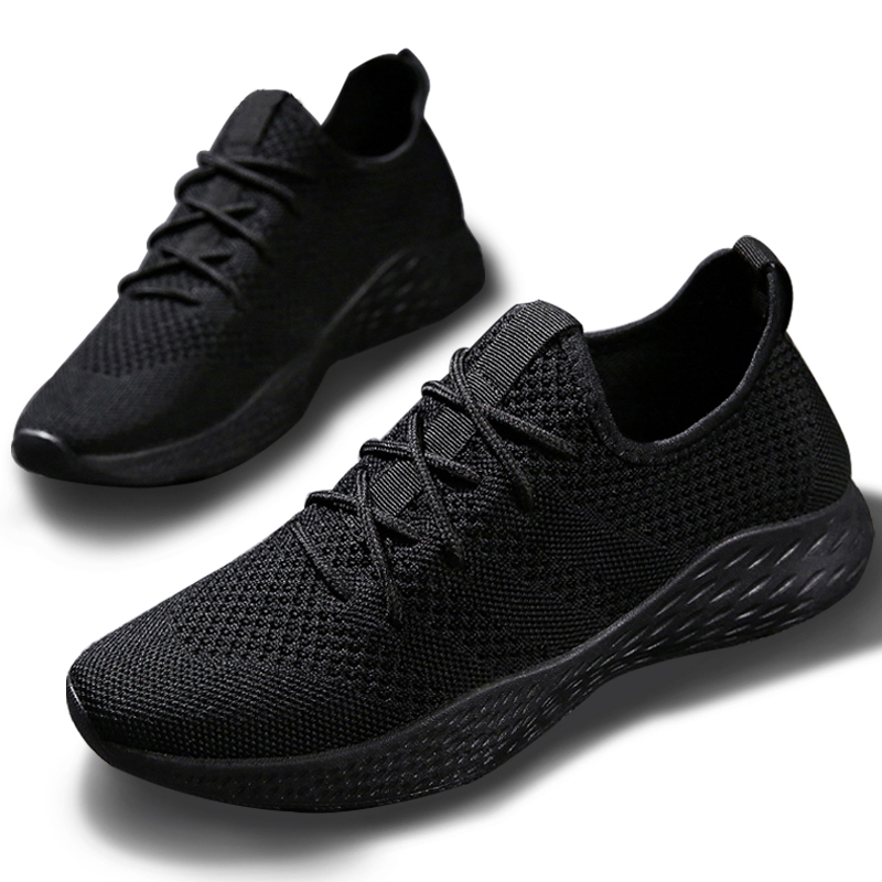 2020 Men Sneakers Mesh Lace-up Breathable Lightweight Mens Shoes Casual Comfortable Mens Casual Shoes ON-slip Big Size 38-47