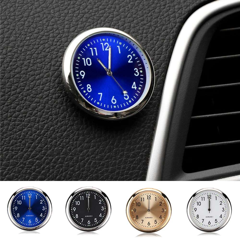 Car Clock Luminous Mini Automobiles Internal Stick-On Digital Watch Mechanics Quartz Clocks Automotive Styling Access Gifts