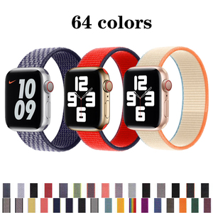 sport loop strap for apple watch band 44mm 42mm iwatch band 38mm 40mm 44 mm series 6/5/4/3/2/1 bracelet nylon weave watchband
