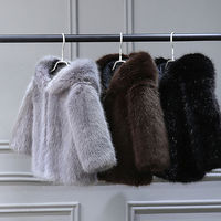 Children's fur winter coat imitation mink fur coat for boys and girls warm padded cotton coat baby Mao Mao clothes