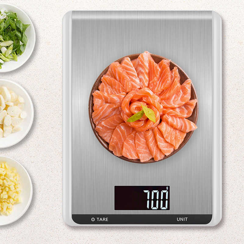 5 kg/10 kg Küche Skala Mode Edelstahl LCD Digital Skala Hintergrundbeleuchtung 1g Elektronische Balance Lebensmittel Backen gewichtung Skala
