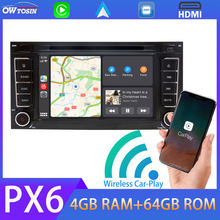Android 9.0 PX6 4G+64G Car DVD Multimedia Player For VW Touareg T5 Multivan GPS Navi Radio Carplay TDA7850 Bluetooth 5.0 Stereo(China)