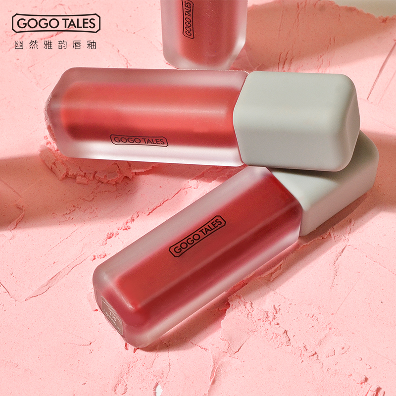 GoGo Tales Lip Tint Matte Waterproof Lip Gloss Nude Long Lasting Lipsticks Pigment Velvet Smooth Lips Makeup Beauty Cosmetics
