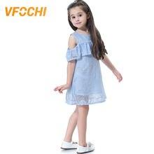 Vfochi 2019 новые платья для девочек Летняя повседневная одежда