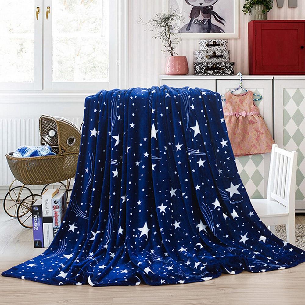 High Quality Blanket Super Fleece Soft Warm Solid Warm Micro Plush Flannel Star Blanket Throw Rug Sofa Bedding Bedspread Winter-0