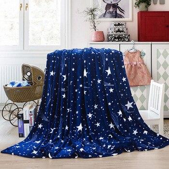 High Quality Blanket Super Fleece Soft Warm Solid Warm Micro Plush Flannel Star Blanket Throw Rug Sofa Bedding Bedspread Winter