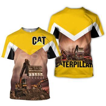 Excavator Equipment Worker Machine 3d Printed women for men Summer T-shirts Short Sleeves Streetwear hip hop tshirts dropshipp - discount item  30% OFF Tops & Tees