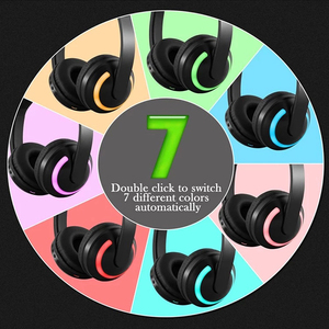 Image 4 - LED light Cat Ears Noise Cancelling Headphones Bluetooth  Kids  Headset Support TF Card 3.5mm Plug for Phones With Microphone