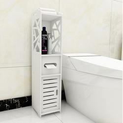 Bad Wc Möbel Schrank Weiß Holz Muster Stand Lagerung Schränke Bad Toiletten Regal Tissue Lagerung Rack