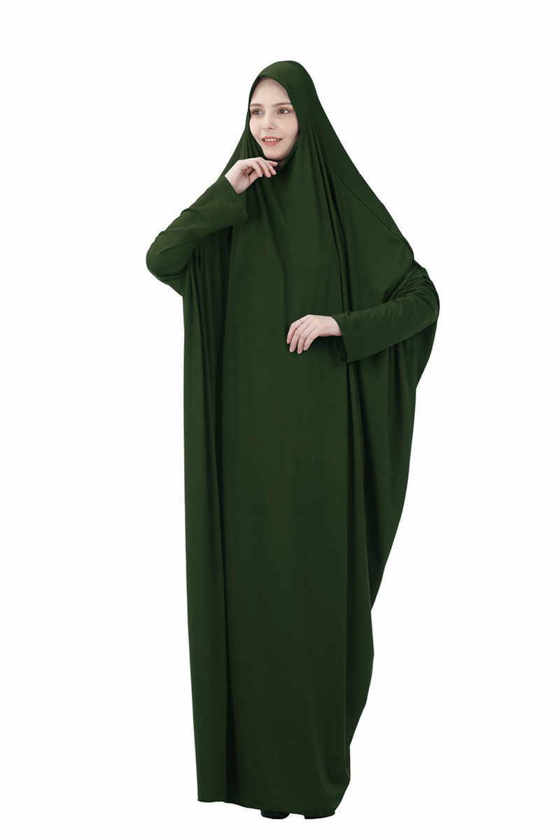 Turki Muslim Prayer Garmen Dress Wanita Panjang Abaya Gaun Islam Pakaian Penutup Penuh Shalat Doa Musulman Jurken Abaya