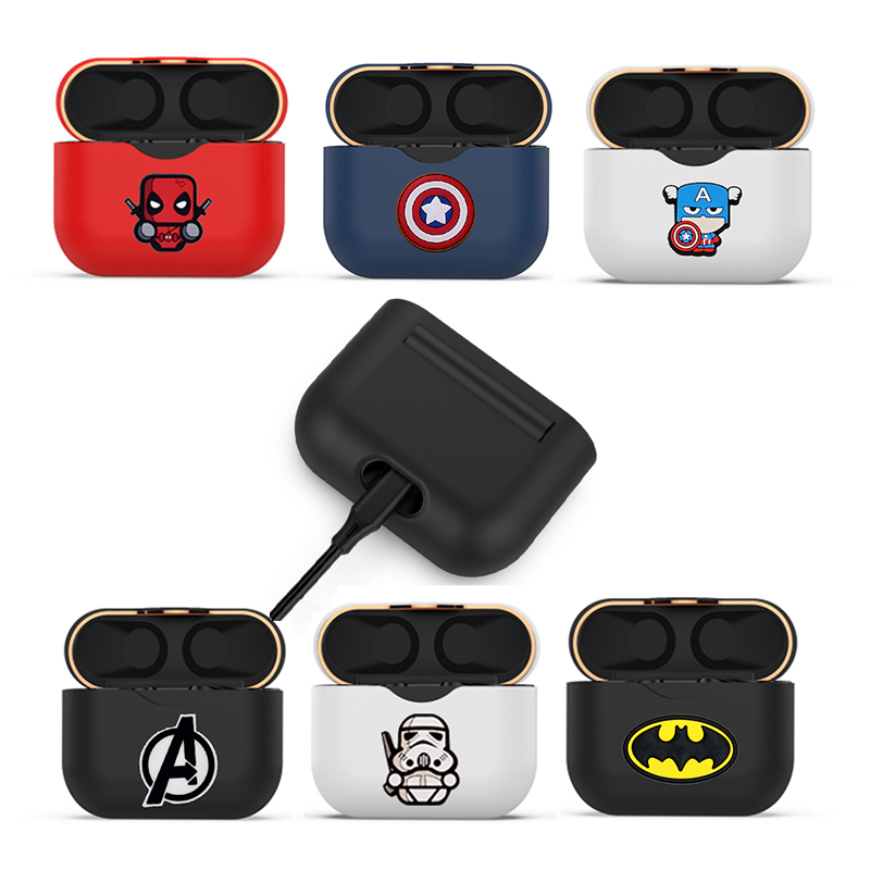 Cartoon Cute Protective Cover For WF 1000XM3 Earphone Charging Box Silicone Protector Frame Shell For Sony WF-1000XM3 Case