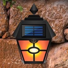 Outdoor Solar Light Retro Hexagonal Pane Light Simulation Dynamic Flame Garden Villa Landscape Light  Garden Solar Light