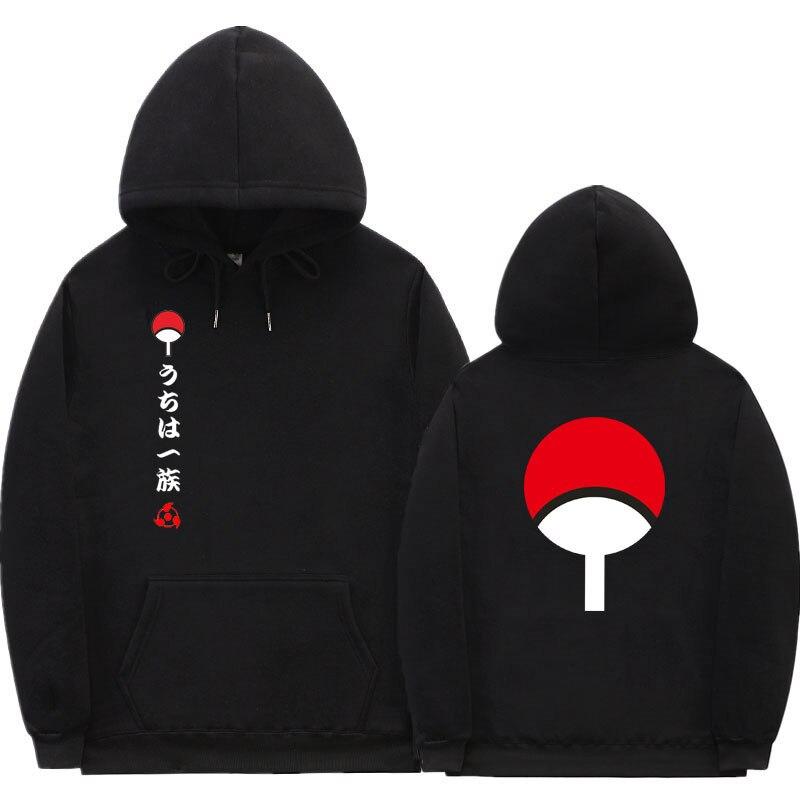 Japão anime naruto hoodies impressão uchiha hoodies masculino moletom com capuz casual meninos pullovers moletom fora branco streetwear