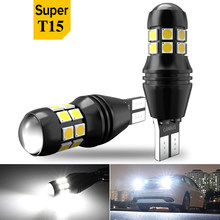 2pcs T15 W16W 1500Lm LED Canbus Bulbs led Car Backup Reverse Lights for BMW 5 Series E60 E61 F10 E90 F11 X5 E70 Mini Cooper R56