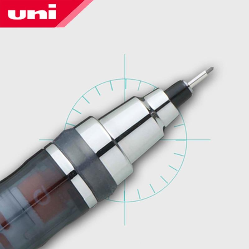 Japon UNI crayon mécanique 1 pièces/lot 0.5mm plomb rotatif croquis quotidien écriture fournitures M5-450T papeterie étudiant
