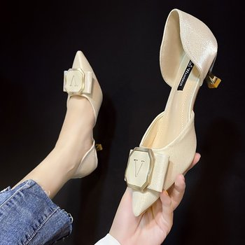 2021 spring fashion set of stiletto heel pointed shallow mouth ladies high heels 928