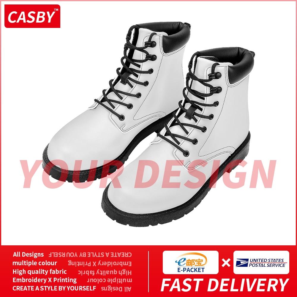 2020 New Fashion Mens Boots High Quality Comfortable Custom Logo Platform Shoes Breathable DIY Design Print Martin Flats F15